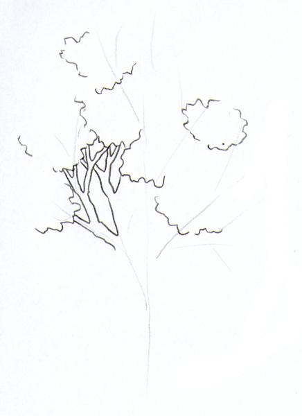 hintergrund malen mit buntstifte